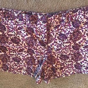Ann Taylor Loft Linen Blend Shorts Sz 14 Modest
